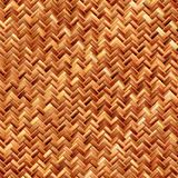 Woven basket closeup. Computer generated illustration of woven bamboo material Royalty Free Stock Photography