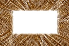 Woven basket frame. A brown coarse woven basket frame with blank white space Royalty Free Stock Photos