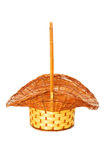 Woven basket isolated Stock Photography