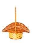 Woven basket isolated Stock Photography