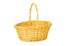 Woven basket isolated Stock Image