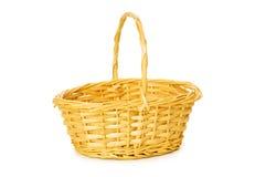 Woven basket isolated Stock Image