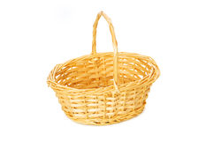 Woven basket isolated Royalty Free Stock Photography