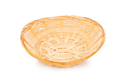 Woven basket isolated on the white Stock Photography