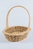 Woven basket isolated on a white background with clipping path. Stock Images