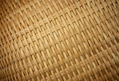 Woven Basket texture closeup. Diagonal orientation Royalty Free Stock Photo