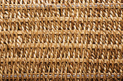 Woven basket texture. Textured basket made of natural fiber as a Royalty Free Stock Images
