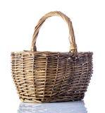 Woven Basket  on White Background Royalty Free Stock Photos
