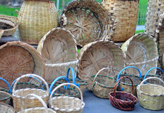 Woven baskets Stock Image