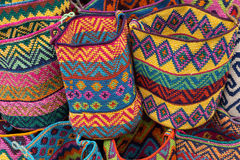 Woven baskets in Chichicastenango Guatemala Royalty Free Stock Photo