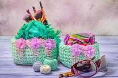 Woven baskets Royalty Free Stock Photos