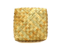 Woven birch square box Royalty Free Stock Images