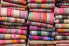 Woven blankets Stock Photography