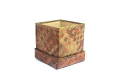Woven box Royalty Free Stock Photos