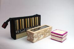 Woven boxes Royalty Free Stock Images