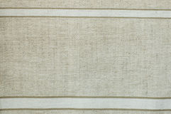Woven canvas with natural patterns. Strips Stock Photography