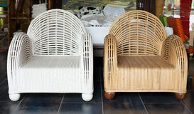 Woven chairs Royalty Free Stock Photo