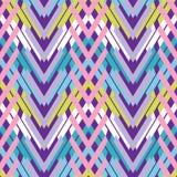 Woven Chevron Pattern Seamless Vector Pattern. Bright Interlocking. Texture Illustration for Trendy Home Decor, Summer Boho Fashion Prints, Retro Wallpaper stock illustration