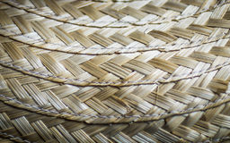 Woven. Close up of woven flax kite bag Royalty Free Stock Image