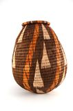Woven closed basket from Botswana royalty free stock photos