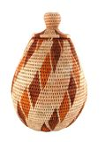 Woven Closed Basket From Botswana Royalty Free Stock Photography