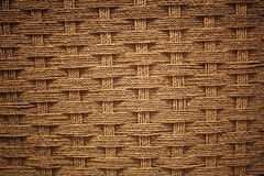 Woven coir. Background with vignette effect Royalty Free Stock Photos