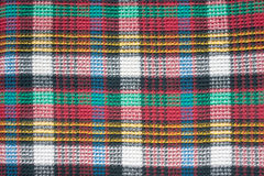 Woven color squared cloth texture Stock Photos