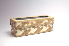 Woven cream and brown box royalty free stock image