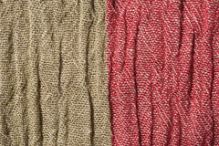 Woven crinkled Fabric in two colors Stock Images