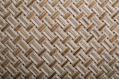 Woven crisscross place mat close up view.  stock photo