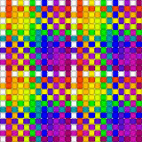 Woven crisscross plaid pattern seamless. An illustration of woven crisscross texture with rainbow colored warp and weft strands. Ready to repeat in all royalty free illustration