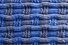 Woven Crochet in Blue Gray with Horizontal Ridges Stock Image
