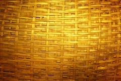 Woven dark golden bamboo Stock Photography