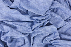 Woven denim crumpled canvas Royalty Free Stock Photos