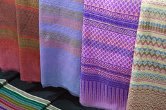 Woven Fabric Thai fabric, fabric. Texture background Royalty Free Stock Photos