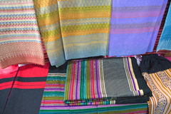 Woven Fabric Thai fabric, fabric. Texture background Royalty Free Stock Photo