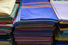 Woven Fabric Thai fabric, fabric. Texture background Royalty Free Stock Image