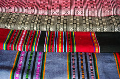 Woven fabrics of yarn from Laos Stock Photography