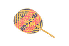 Woven fans made from Bamboo. Royalty Free Stock Photos