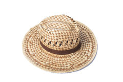 A woven fashion hat isolate on white background Stock Images