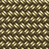 Woven gold background Stock Photos