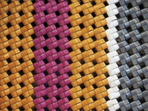 Woven good of plastic materials Stock Photo