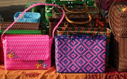 Woven Handbags for Sale Stock Photos