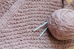 Woven handicraft knit sweater detail Stock Image