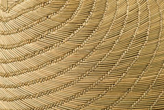 Woven Hat Detail. This image shows the detail of an Asian conical hat royalty free stock photos