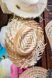 Woven Hat at market Royalty Free Stock Photos