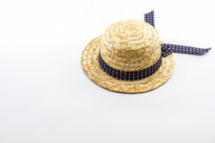 Woven hat on white background. Stock Images