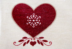 Woven heart Stock Photography