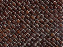 Woven leather. Background of woven leather close up Stock Photos