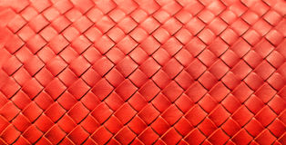 Woven Leather Background. Red woven leather design and background Stock Photography